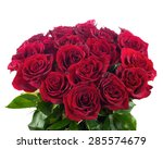 Stock photo colorful flower bouquet from red roses closeup 285574679