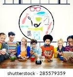 materialistic materialism... | Shutterstock . vector #285579359