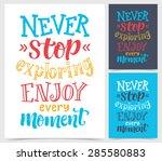vector calligraphic... | Shutterstock .eps vector #285580883
