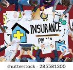 insurance policy help legal... | Shutterstock . vector #285581300
