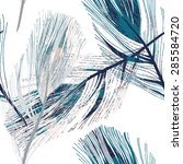 Feather Seamless Pattern  Eps 8
