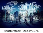 countries nation society... | Shutterstock . vector #285593276