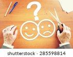 man makes choice between... | Shutterstock . vector #285598814