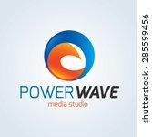 power wave vector logo template | Shutterstock .eps vector #285599456