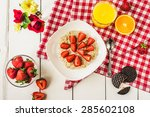top view of cereal and... | Shutterstock . vector #285602108