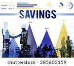 savings save accounting banking ... | Shutterstock . vector #285602159