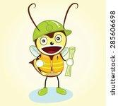 contractor bee mascot character ... | Shutterstock .eps vector #285606698