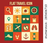 flat travel vector icons | Shutterstock .eps vector #285606710