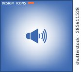 sound on. icon. vector design | Shutterstock .eps vector #285611528