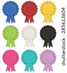 collection of rosette... | Shutterstock .eps vector #285613604