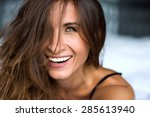 close up morning portrait of... | Shutterstock . vector #285613940