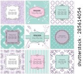 templates  cards  frames ... | Shutterstock .eps vector #285614054