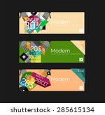 set of banners with stickers ... | Shutterstock .eps vector #285615134