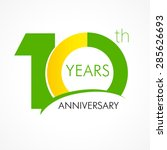 10 th anniversary numbers. 10s... | Shutterstock .eps vector #285626693