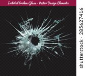 vector broken glass. isolated... | Shutterstock .eps vector #285627416