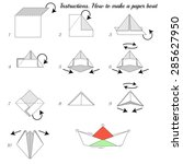 instructions how to make paper... | Shutterstock .eps vector #285627950