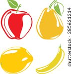 fruit silhouettes isolated on... | Shutterstock .eps vector #285631214