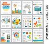 big set of infographics... | Shutterstock .eps vector #285634109