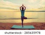 Young Woman Doing Yoga Exercis...