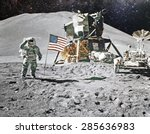 Astronaut On Lunar  Moon ...