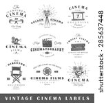 set of vintage cinema labels.... | Shutterstock .eps vector #285637448