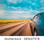 rear side perspective view of... | Shutterstock . vector #285637478