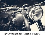 Vintage Motorbike  Focus On A...