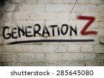 generation z concept | Shutterstock . vector #285645080