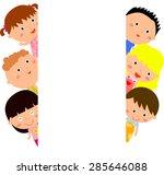 kids and banner   Shutterstock .eps vector #285646088