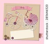 raster baby girl shower...   Shutterstock . vector #285646520