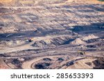 part of a coal mine pit with... | Shutterstock . vector #285653393