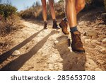 close up of legs of young... | Shutterstock . vector #285653708
