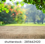 empty table covered with... | Shutterstock . vector #285662420