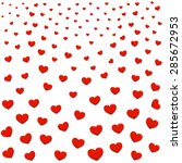 red hearts seamless pattern.... | Shutterstock .eps vector #285672953
