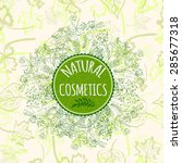 label for natural cosmetic... | Shutterstock .eps vector #285677318