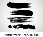 black vector brush strokes... | Shutterstock .eps vector #285682538