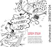 happy fathers day greeting card ... | Shutterstock .eps vector #285687104