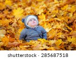 Little Baby Boy In The Autumn...