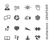 skill icons  mono vector symbols | Shutterstock .eps vector #285695309