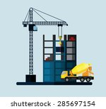 construction site  building a... | Shutterstock .eps vector #285697154