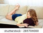 sunny morning sun girl | Shutterstock . vector #285704000