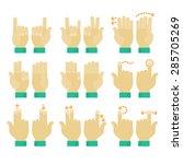 flat design modern cartoon... | Shutterstock .eps vector #285705269