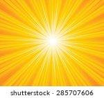 sunburst light background with... | Shutterstock .eps vector #285707606