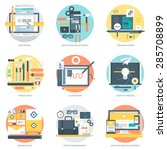 web development and design flat ... | Shutterstock .eps vector #285708899