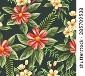 floral seamless pattern with ... | Shutterstock .eps vector #285709538