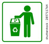 recycling sign icon | Shutterstock .eps vector #285711764