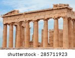 the parthenon   is a former... | Shutterstock . vector #285711923