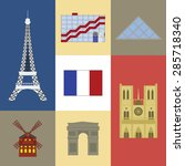 vector color set of french... | Shutterstock .eps vector #285718340