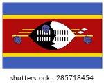 swaziland flag | Shutterstock .eps vector #285718454