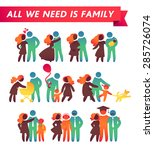 happy family icon multicolored... | Shutterstock .eps vector #285726074